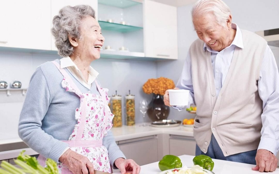make a home safe for seniors with an easy to use kitchen area